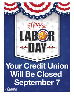 Labor Day 2020 Closing Sign